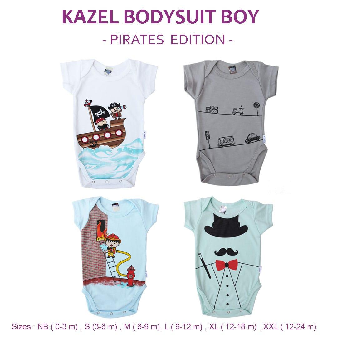Kazel Bodysuit/ Jumper Bayi Motif Pirates Edition Isi 4 By Babyklik.