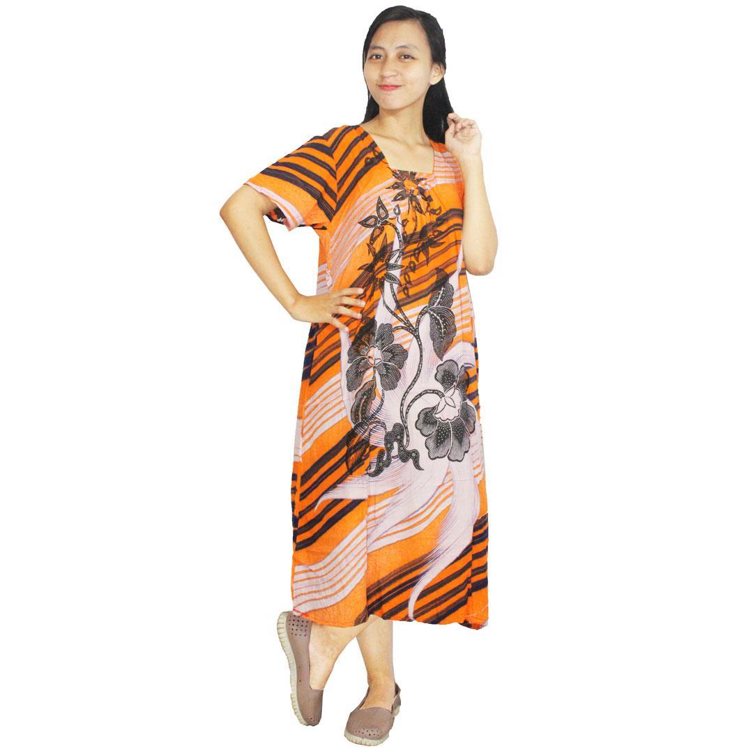 Daster Batik, Daster Lengan Pendek, Baju Tidur, Piyama, Leher Kerut (DPT001-28) Batikalhadi Online