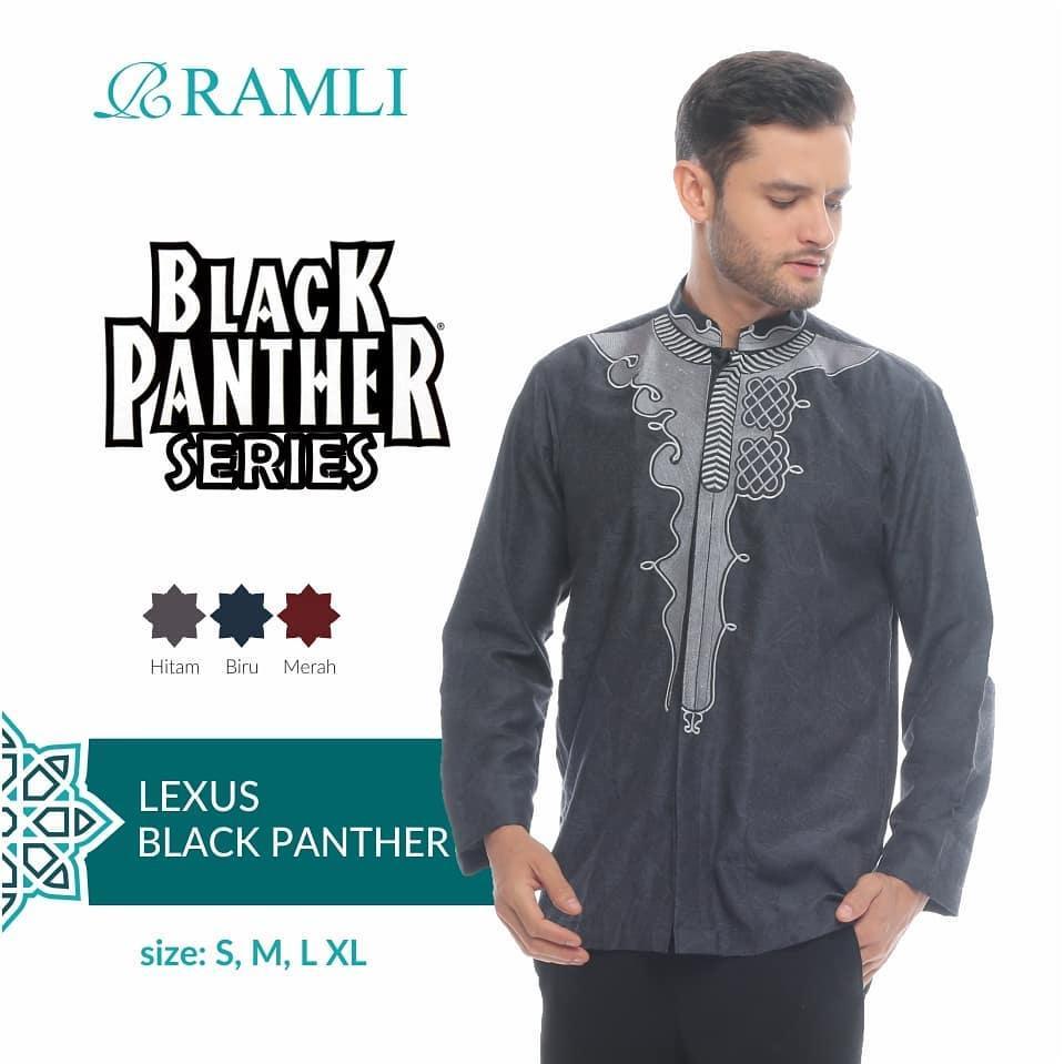 Original Ramli Baju Koko Black Panther
