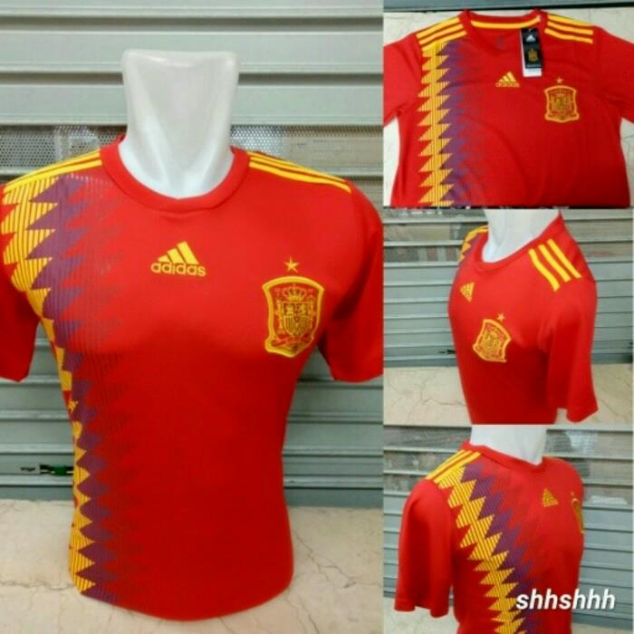 Spanyol Home Piala Dunia Jersey Bola - Spanyol Home, S By Murah Rahayu 84.