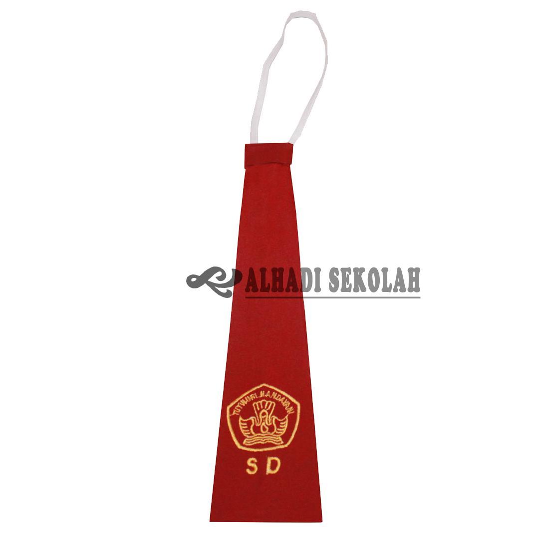 Dasi Seragam Sekolah, Sablon Bordir Perekat Dan Karet Untuk Sd S/d Sma (