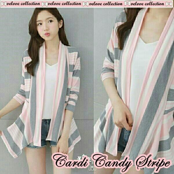 godwin collection Cardi stripe candy / fashion wanita/ muslim/ fashion muslim/ atasan wanita