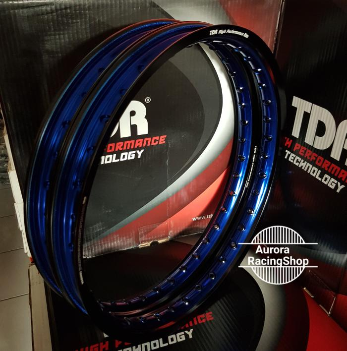 Velg Tdr Wx Shape Two Tone Set Ring 17 X 140 / 140 Warna Black Blue