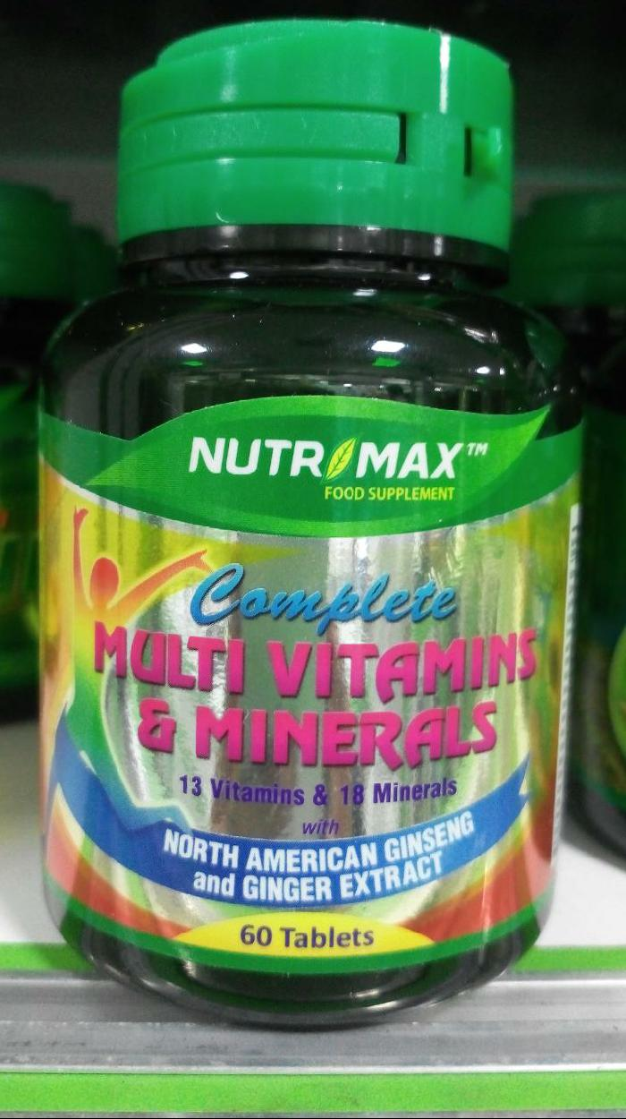 Harga Obat Batuk Nutrimax Lengkap Dan Terbaru Cek Pro Vitamins N Mineral Complex 60 Capsul Multivitamin