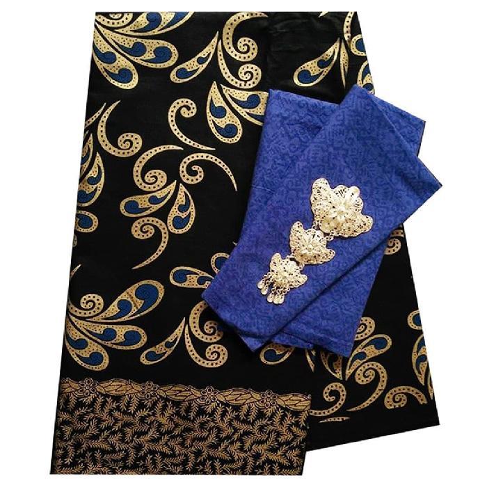 TERLARIS Kain Batik 2 meteran, Kain Embos, Bahan Batik untuk Kemeja,KBKE001-27D PROMO