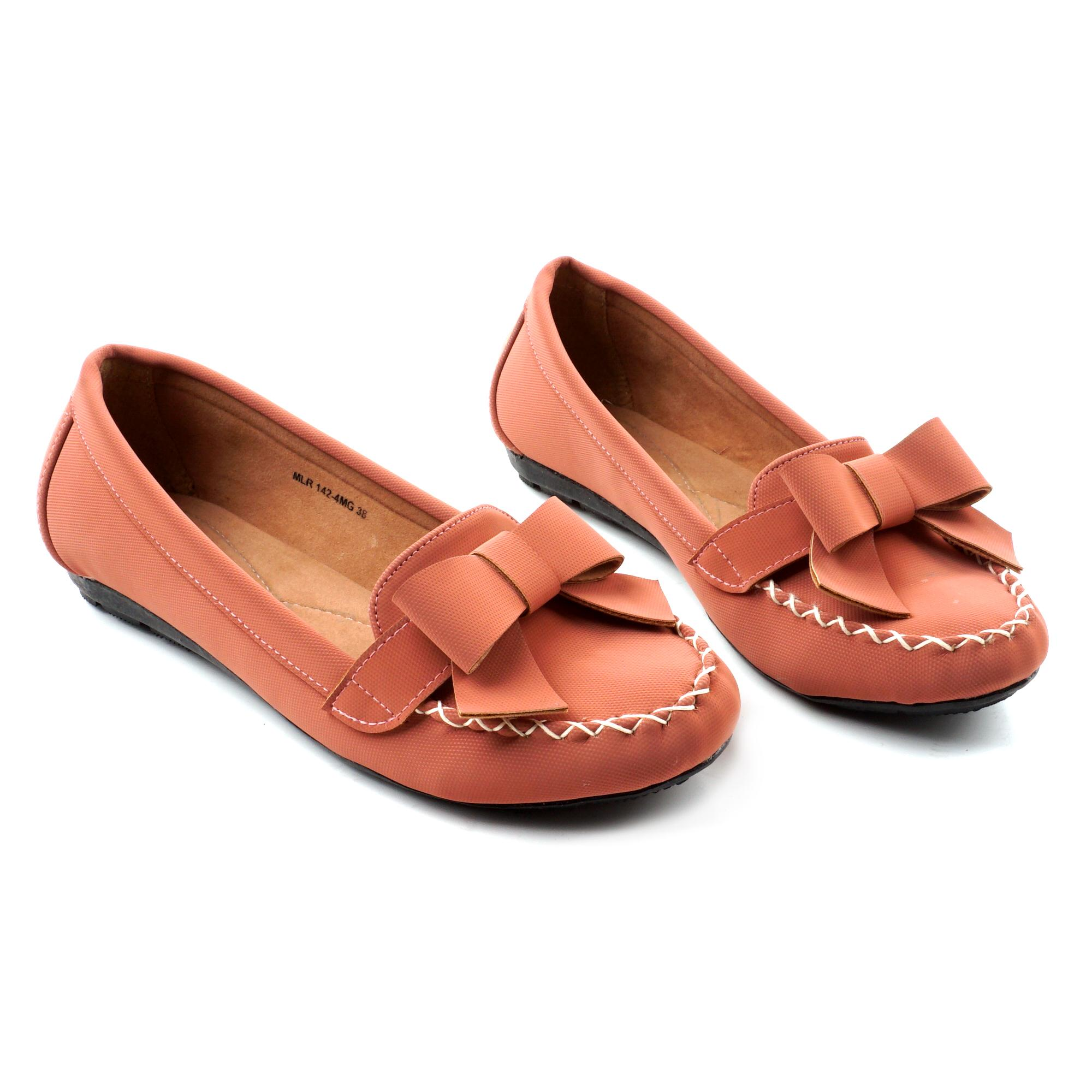Pluvia Sepatu Flat Shoes Wanita Terbaru MLR MG04 Hitam Salem Navy