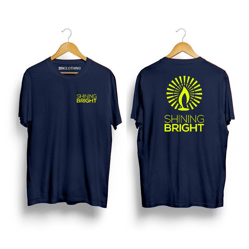 Kaos Distro Shining Bright Stabilo Print Premium Clothes