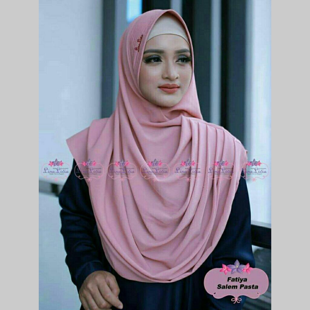 jilbab instan FATIYA luris by Linalivia (warna Dusty Pink) - hijab kerudung pashmina pasmina bergo khimar
