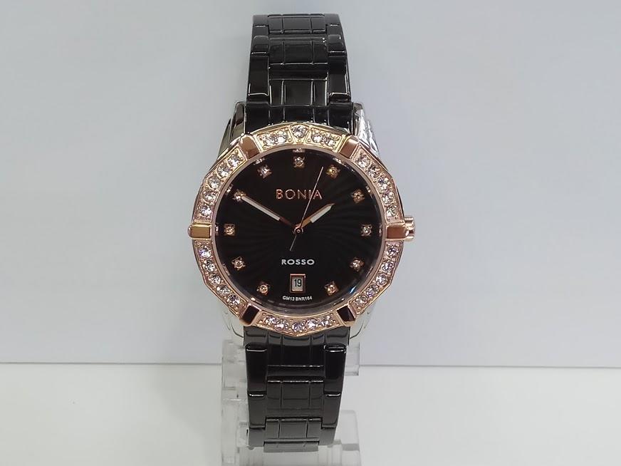 Bonia Jam Tangan Wanita Bonia BNR164-2337S Rosso Black Rosegold Stainless Steel