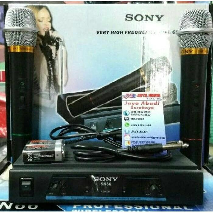 Sony Sn 66 Microphone Double Wireless UHF - Hitam suara mantapIDR275000. Rp 275.000