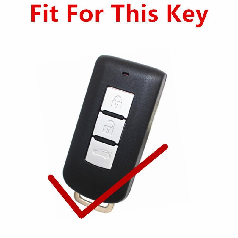 Cover Sarung kunci Kulit Mobil Xpander 3 tombol - Smart Key Case Cover For Mitsubishi Outlander/ Xp