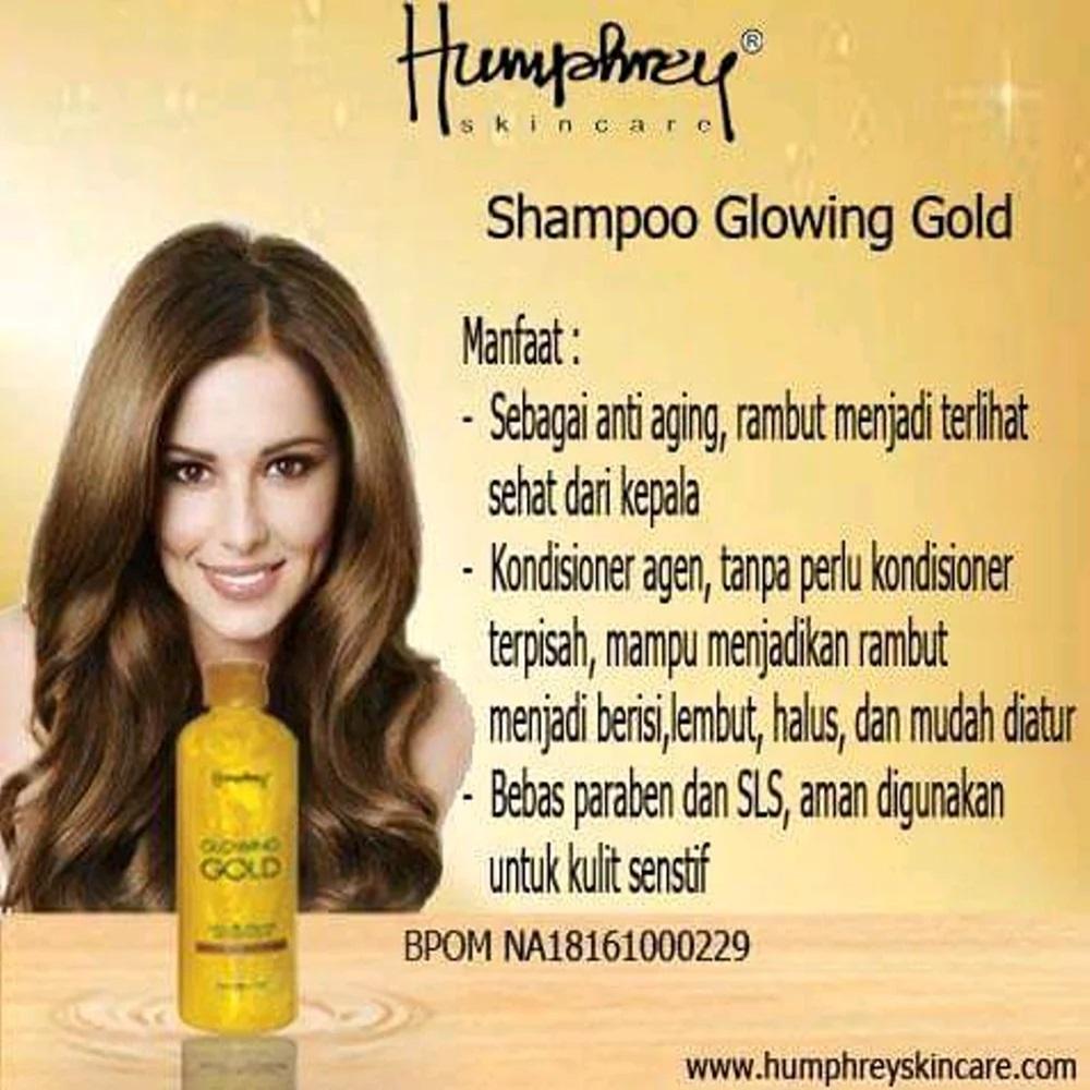 Jual Perawatan Rambut Humphrey Terbaik Ikat Anak Ariees Glowing Gold Shampoo With Particle Skin Care