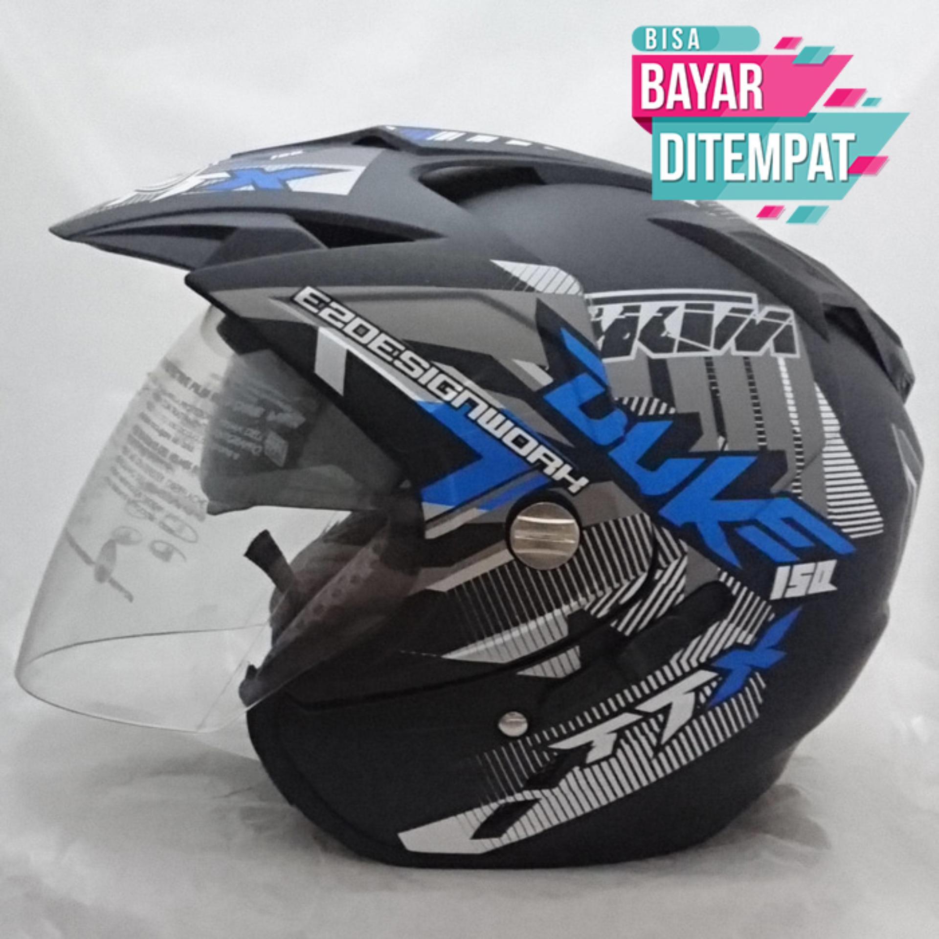 Flash Sale Gratis Ongkir Bisa Bayar ditempat Gratis packing 1 Box Khusus - Helmet DMN BXP