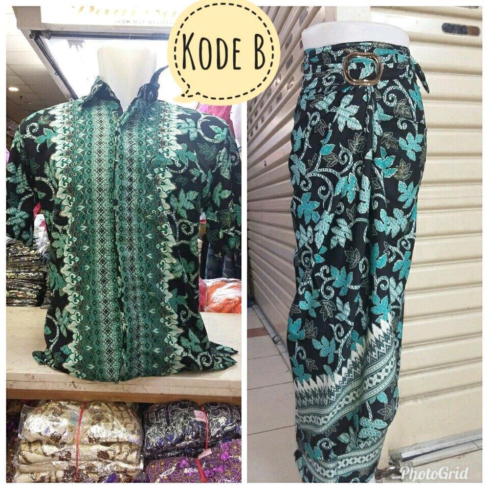 Couple Set Rok Lilit Plus Kemeja Batik Pria di lapak Toko Kembar Tanah Abang rinymangiwa