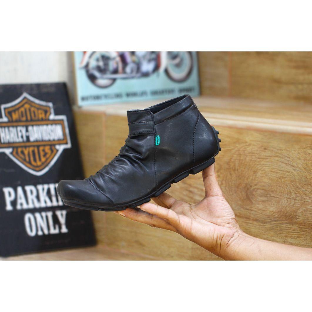 sepatu boots kickers wrinkle zipper kerja formal santai hunting