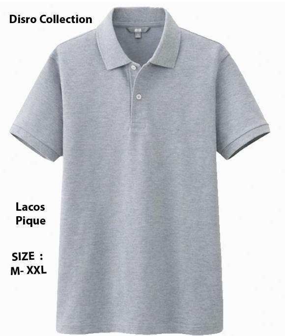 DISRO - Polo Shirt Pria S M L XL XXL Kaos Distro T-Shirt Fashion Pria Wanita / Polos Shirt Pria Polos Atasan Pakaian Polos Pendek Kerah Berkerah Lacos Pique Lacost Formal Casual Korean