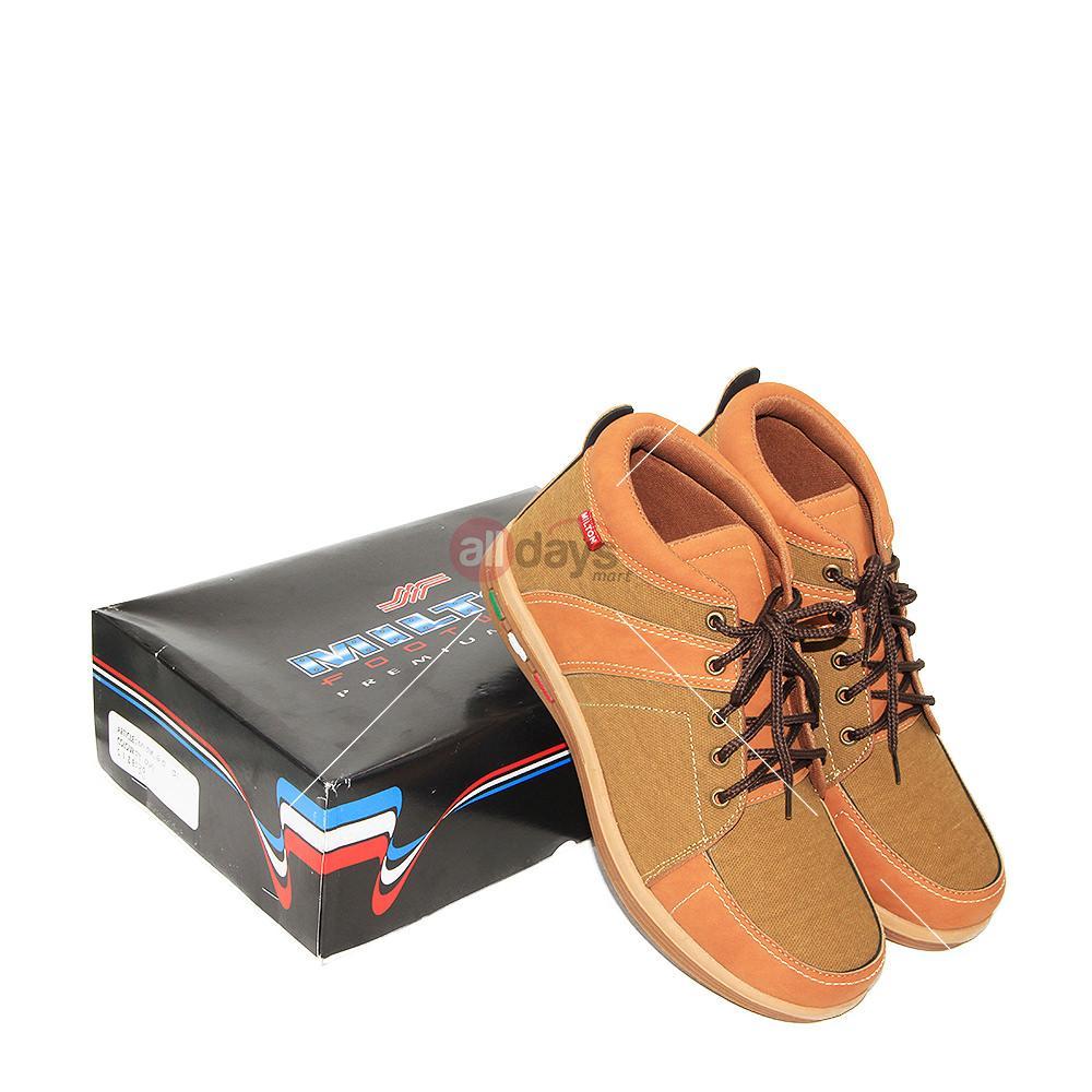 Milton Sepatu Sneakers Boot Pria Margo 01 - Tan