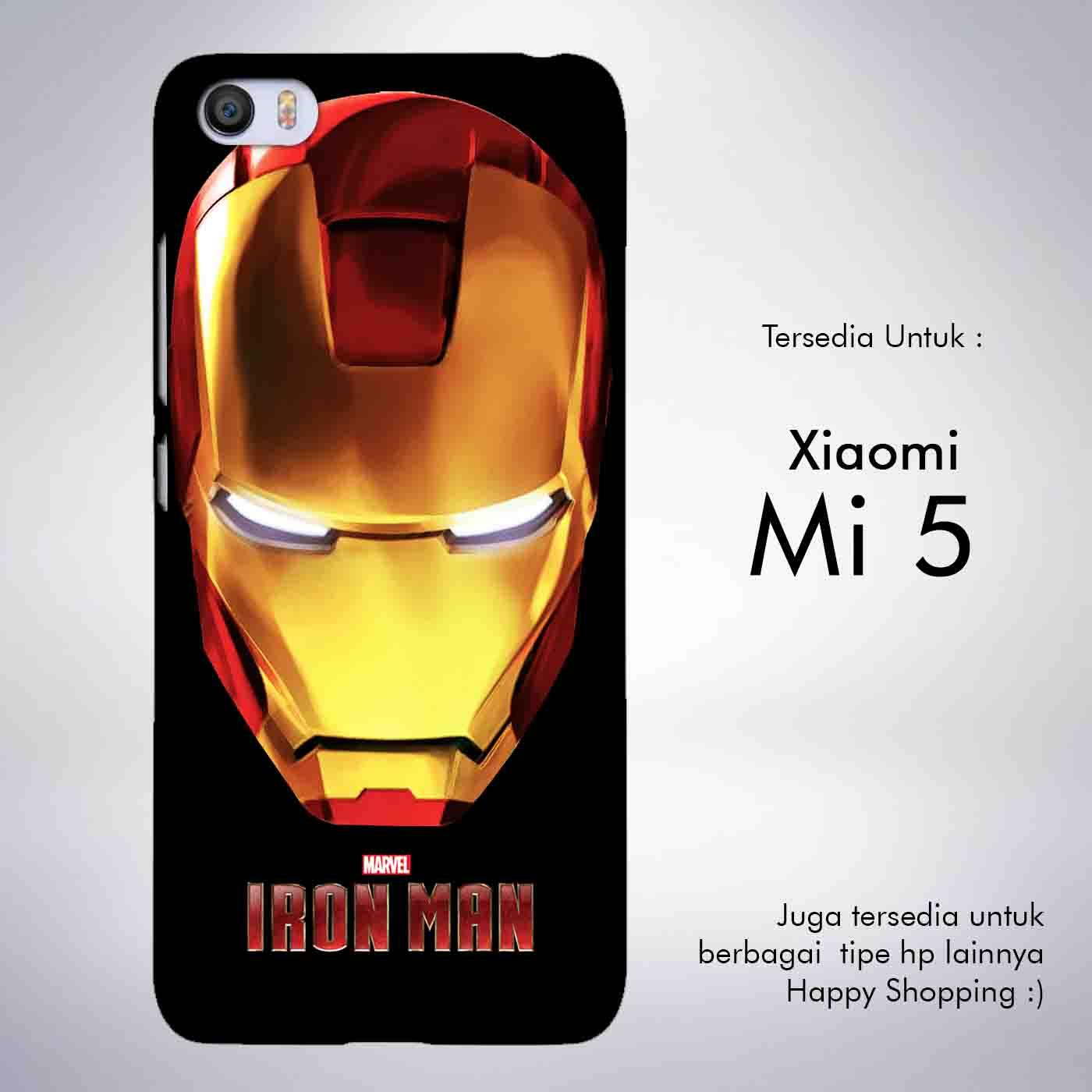 Case Iron Man for Xiaomi Redmi 4X Robot Transformer Ironman Limited Biru Dongker .