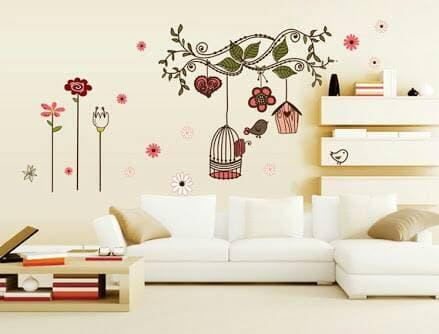 Harga wall sticker 50x70 wall stiker transparan ay7102 love flower n | HARGALOKA.COM