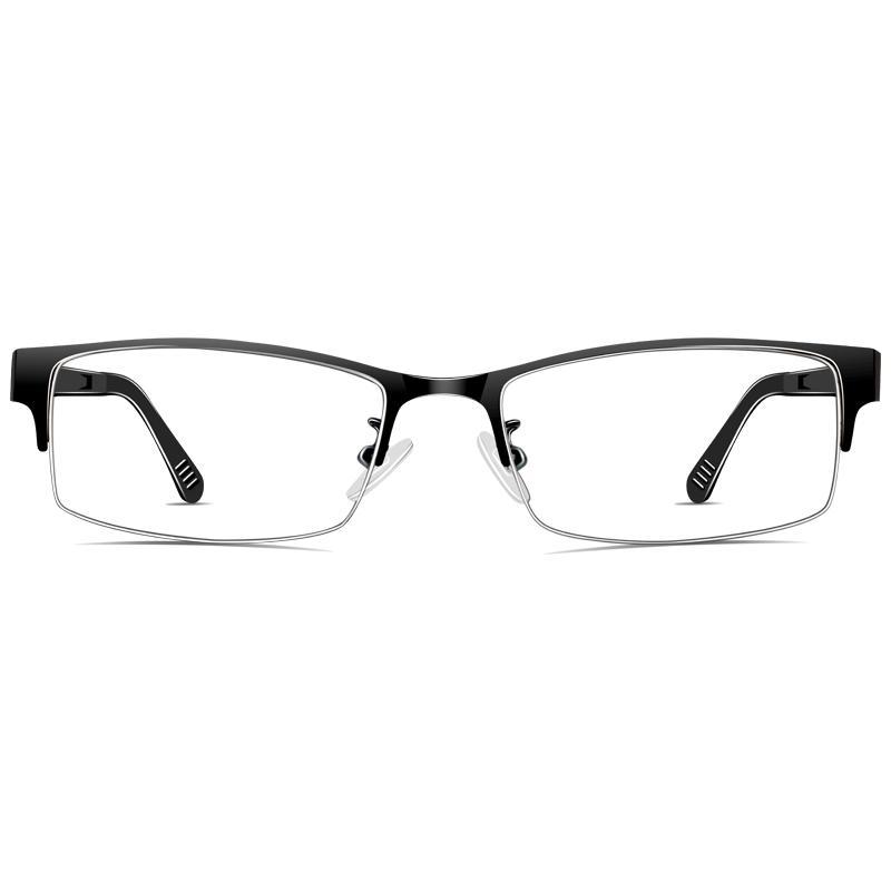 Anti Radiasi kacamata pria Kotak Setengah tanpa derajat anti blu-ray kaca polos menonton HP Komputer pelindung mata anti Kacamata rabun dekat