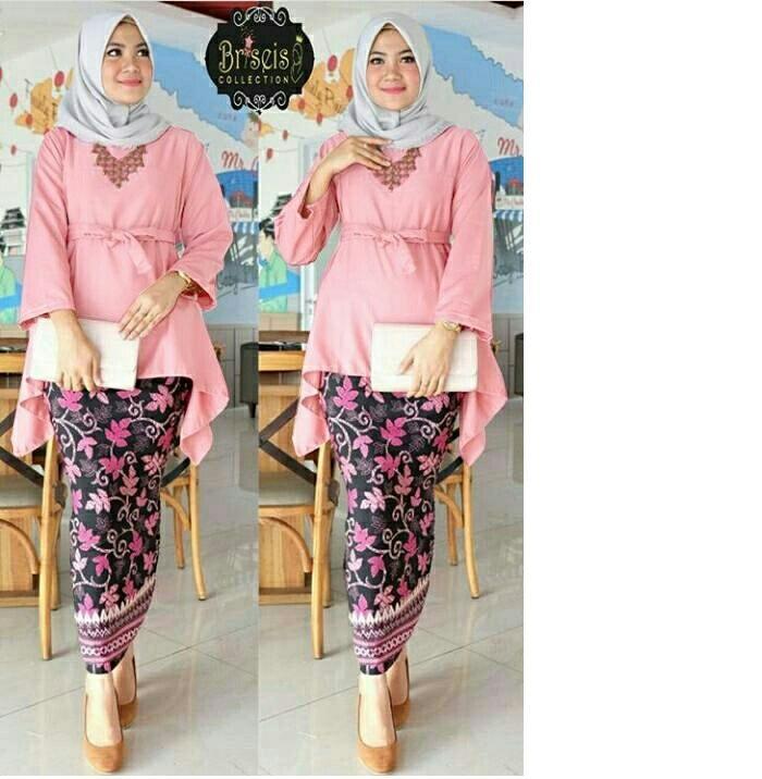Honeyclothing Setelan Kebaya Wanita Bilqes / Kebaya Kutubaru / Setelan Batik / Baju Wanita / Best Seller