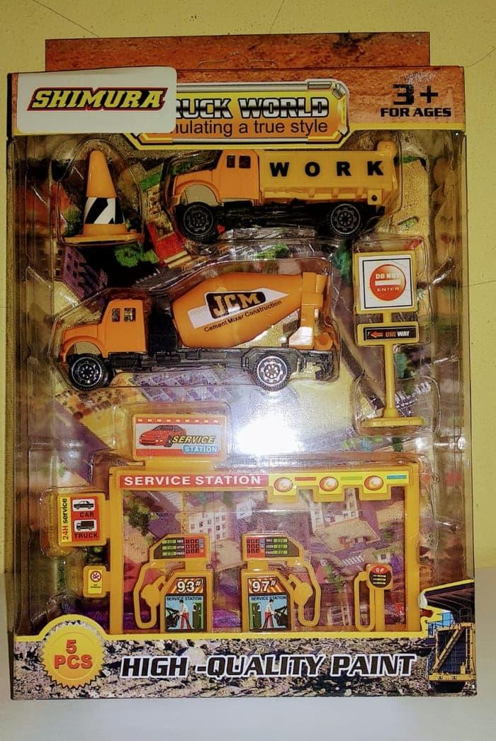 Mainan Anak Diecast Vehicle Construction - Truck World 3
