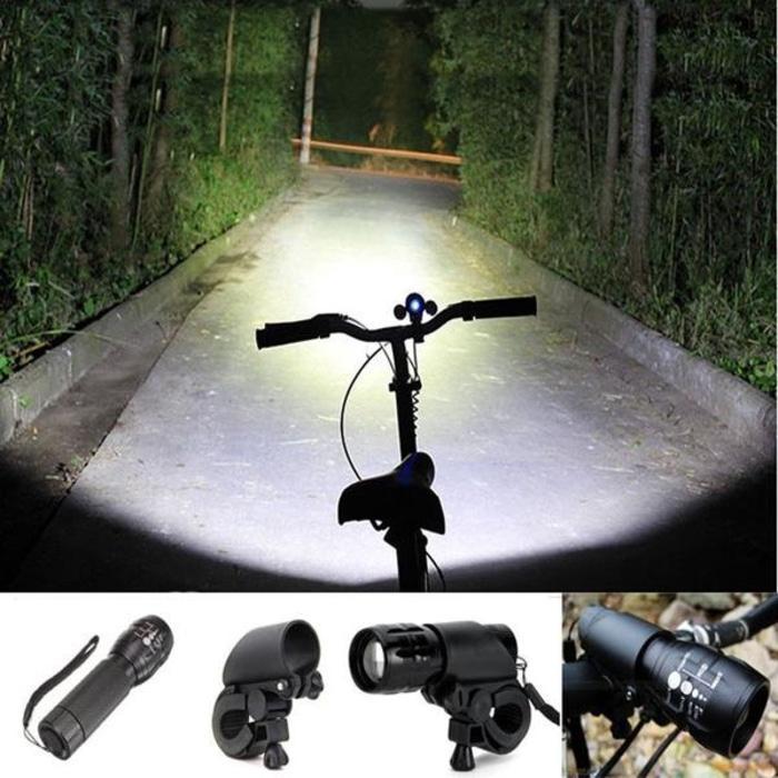 Lampu Senter Sepeda Plus Bracket Original Lampu Depan Waterproof murah