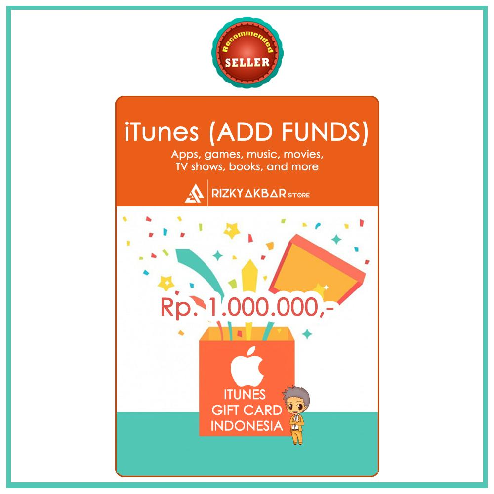 [TRUSTED] iTunes Gift Card IGC Indonesia 1 Juta/1 Jt/1.000.000