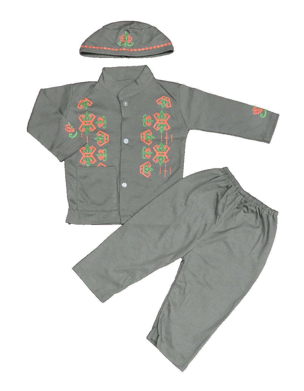 BAYIe - Setelan Baju Bayi Muslim Laki Laki BJ/ Baju Koko Bayi cowok + Kopiah/Peci