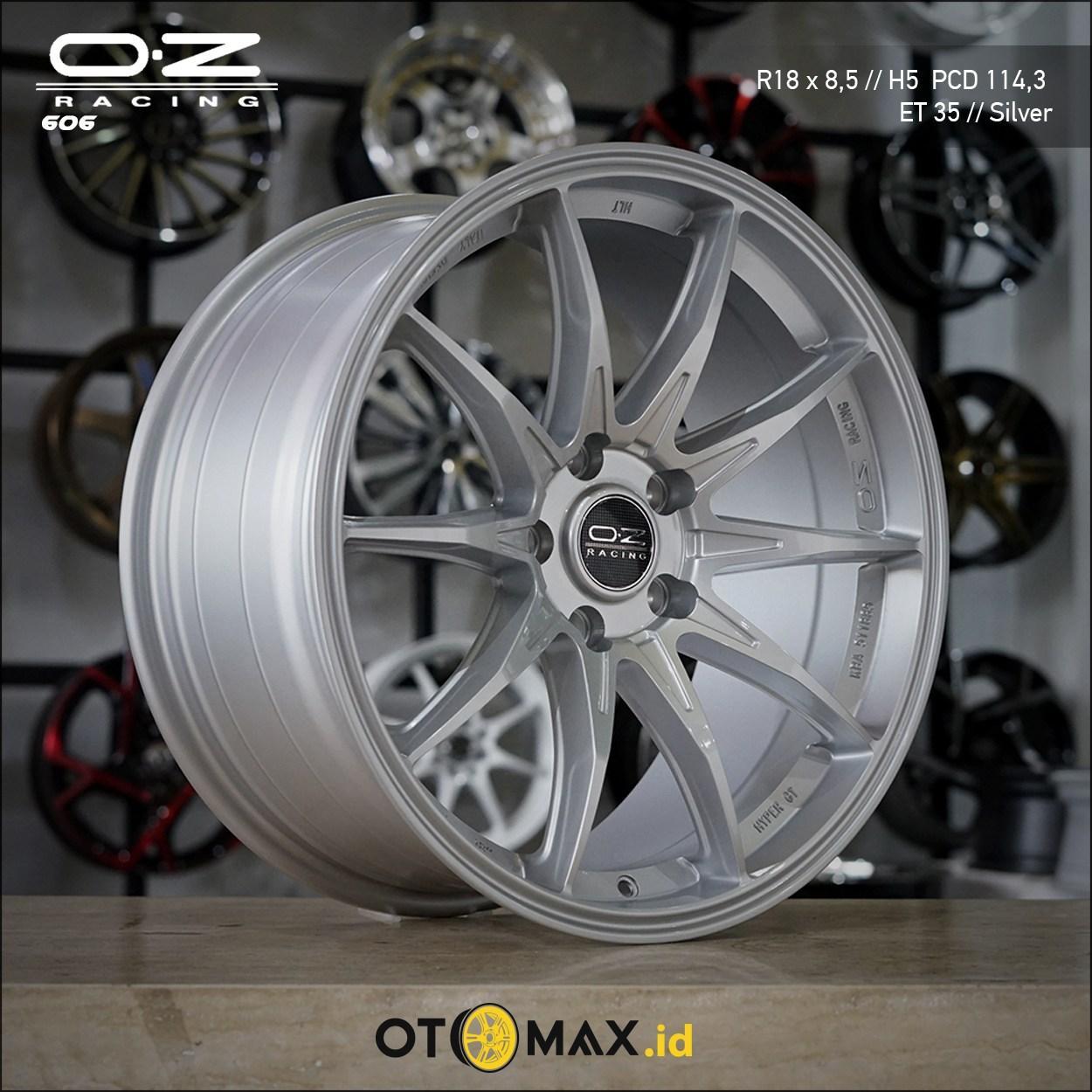 Velg Mobil OZ Racing 606 Ring 18 Silver