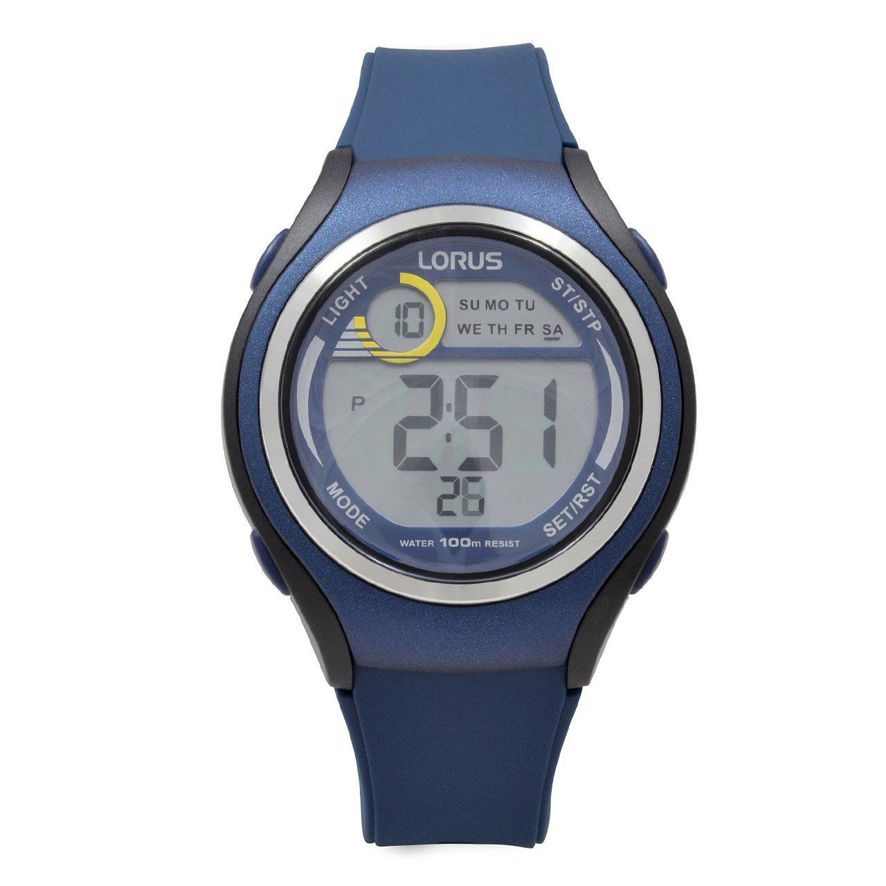 LORUS Jam Tangan - Blue Black - Silicon - R2375LX9