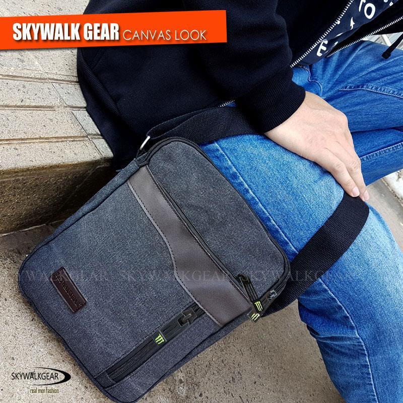 ... Baepack Detective Canvas Multifunction Crossbody Dark Grey New Source Men Bags SKYWALKGEAR