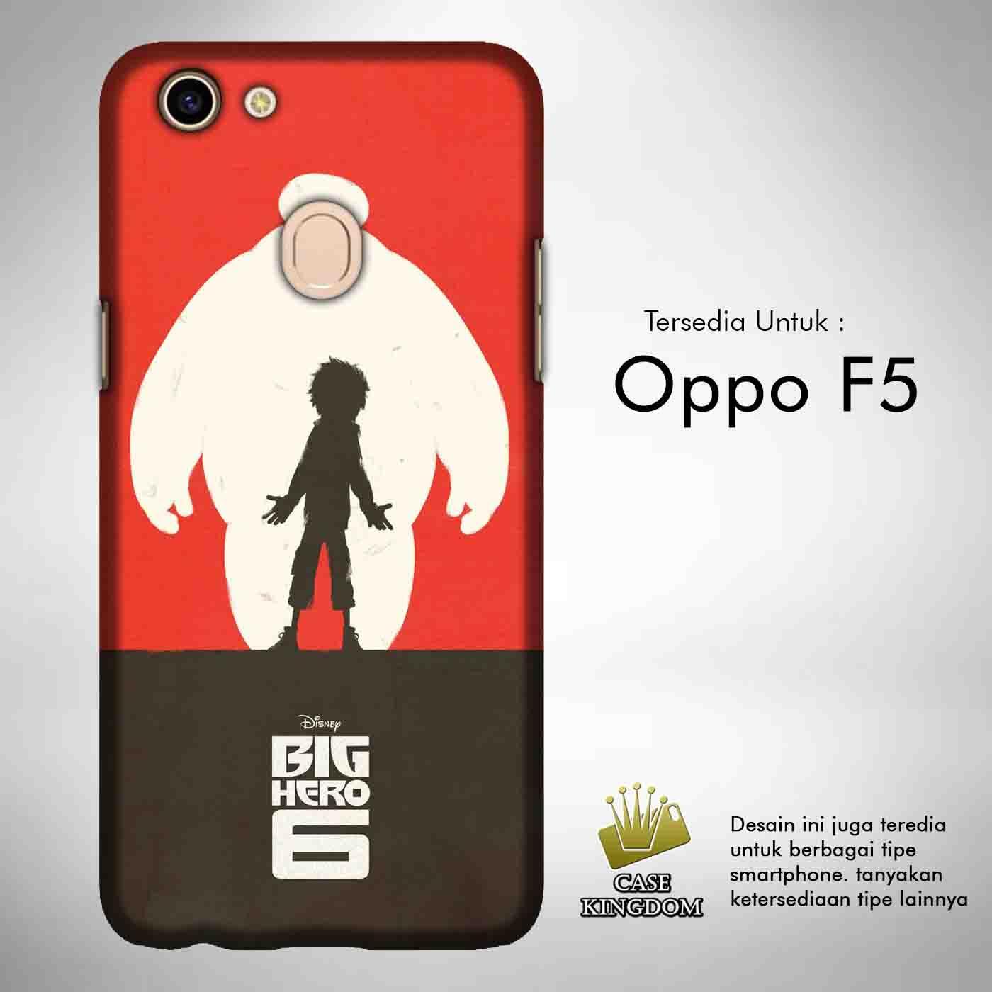 Big Hero 6 Baymax 2 Casing Custom Hardcase Full Print Oppo F5 Case Cover