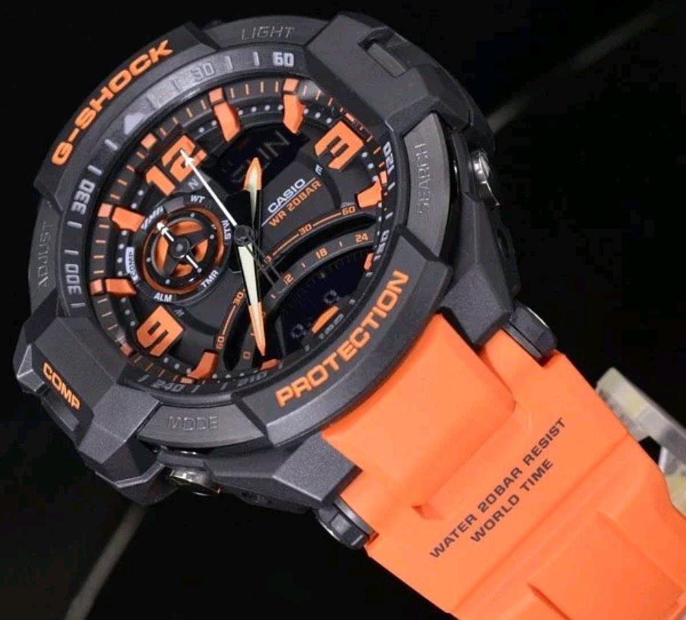 Jam Tangan Casio G Shock Original Pria Sporty Ga 1100 1a3 1000 4a Gravity Master Orange