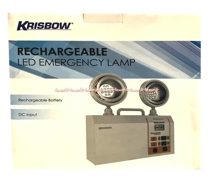 Krisbow Rechargeable LED Emergency Lamp Lampu Darurat Led