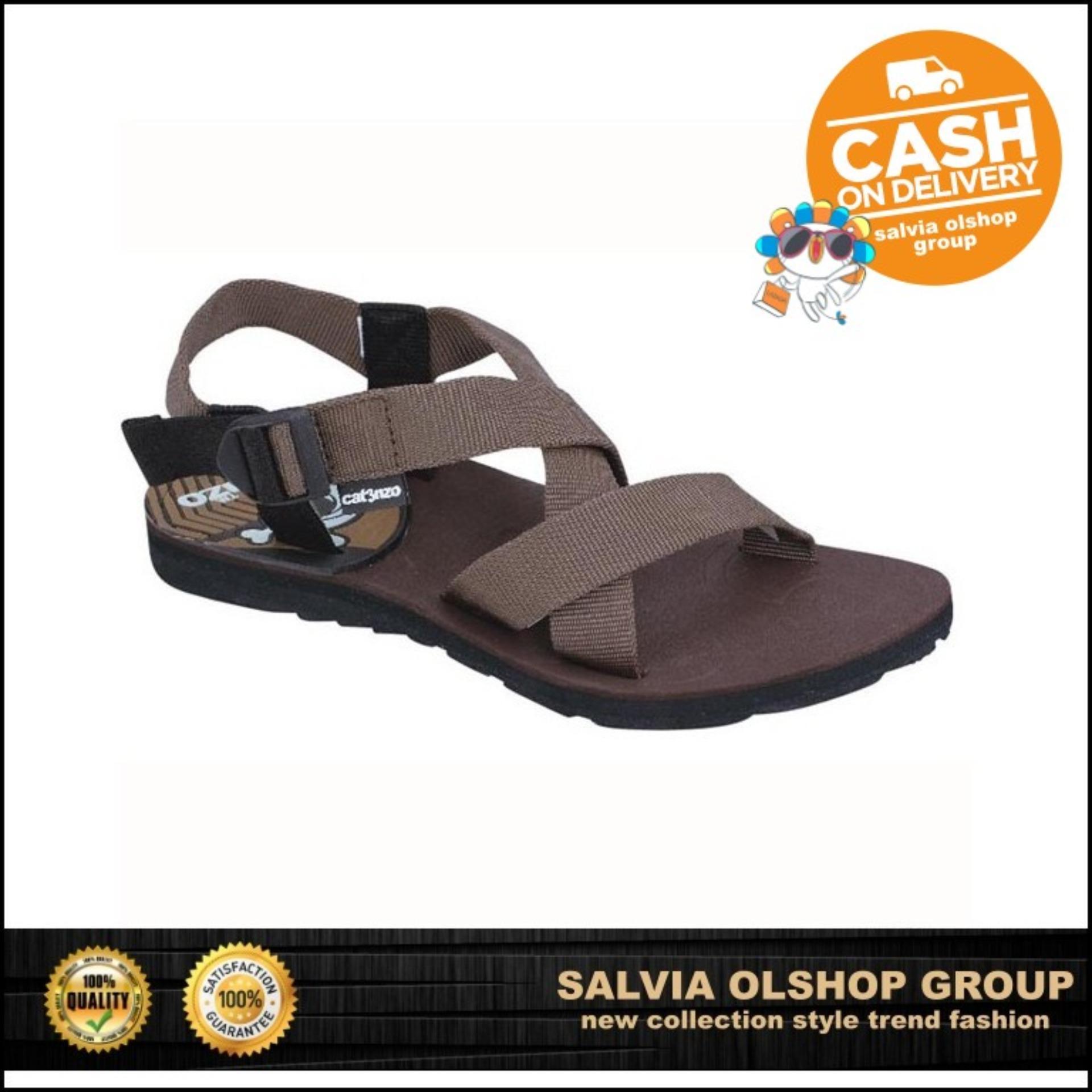 Catenzo Sandal Gunung Pria Kuat Dan Modis JJ 045 - Coklat fad5627af1
