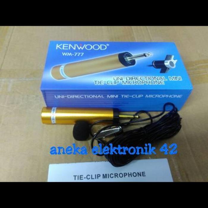 Terpopuler MIC JEPIT KENWOOD WM 777 / MICROPHONE CLIP ON CONDENSOR KENWOOD WM 777