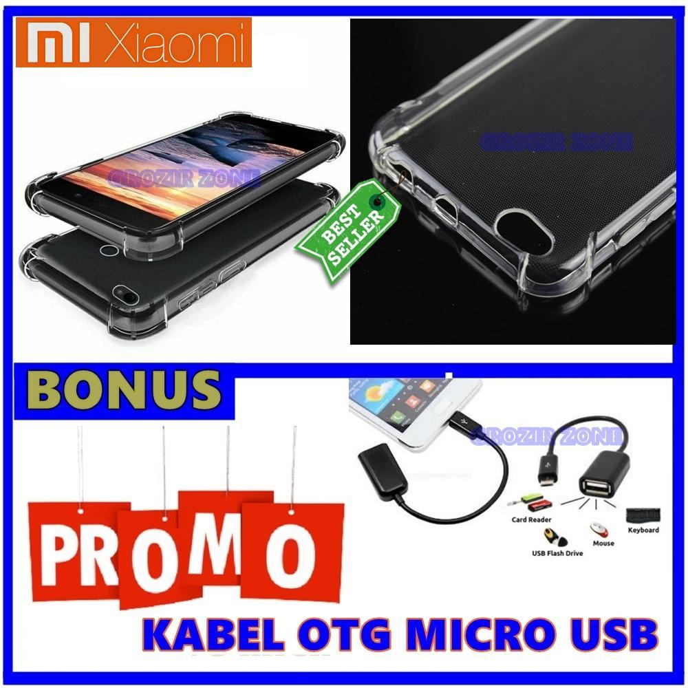 Back Case Soft Jacket / Anti Crack Xiaomi Redmi 5A - Bahan Lebih Bagus + Gratis Kabel Otg Micro Usb ( Grozir zone )