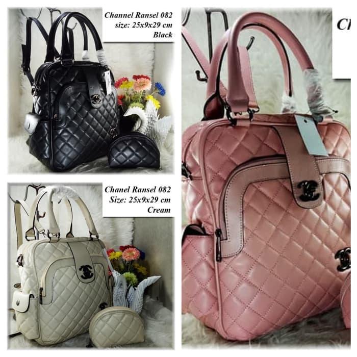 ORIGINAL!!! Tas Ransel Fashion Kuliah Tas punggung Wanita Chanel ransel  Import – NPocSO aad33d4b3f