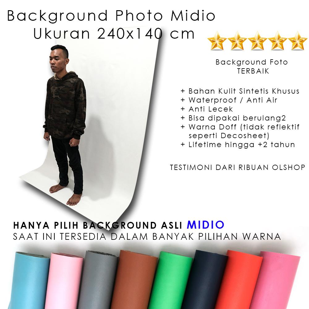 Background Foto Studio Putih Midio Ukuran 240x140cm