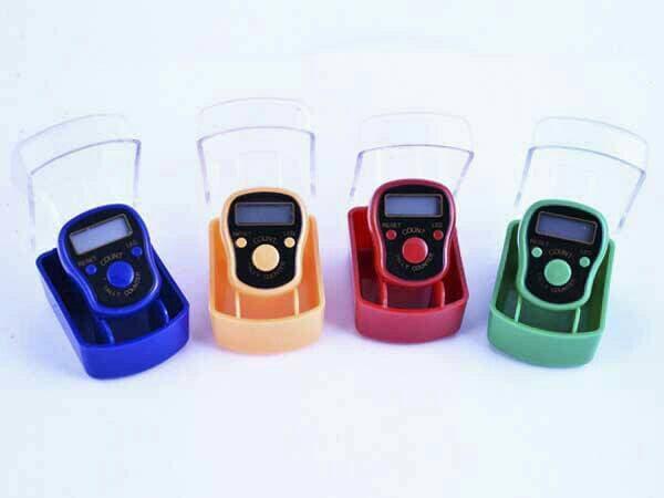 SALE - tasbih digital led light / finger counter / alat penghitung mini Original