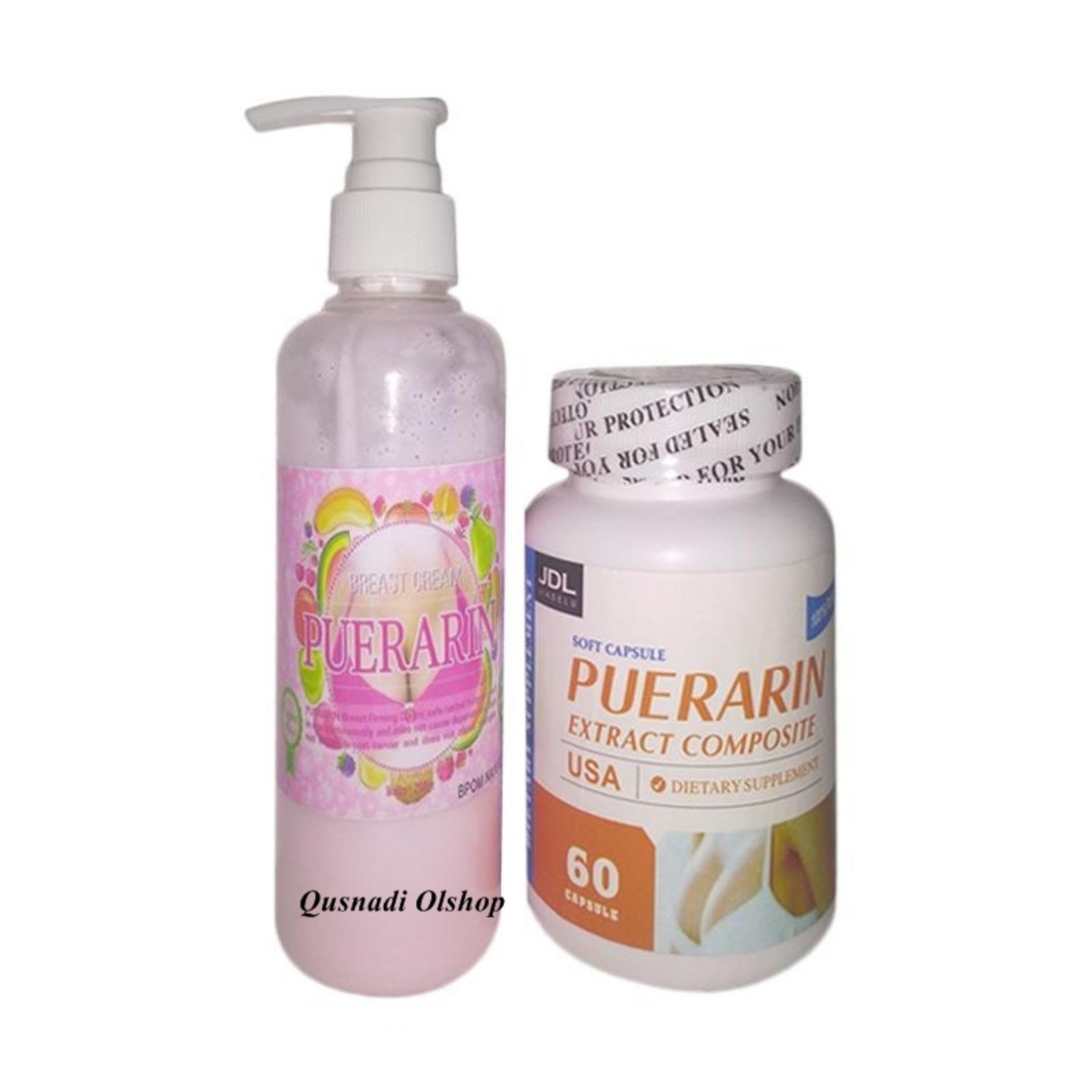 Puerarin Capsul dan Cream Paket Yang Paling Laris Pembesar Payudara Garansi Anti Gagal Obat Herbal Alami Pembesar dan Pengencang Montok Payudara Paling laris dan Murah Asli Original Kesehatan Perawatan Payudara Indah