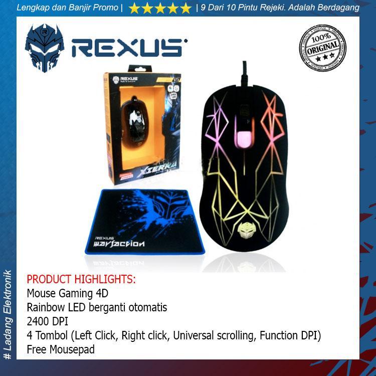 Rexus KVLAR Gaming Mousepad T2 Size: 440x350 tatakan alas mouse pad - Large. Rp