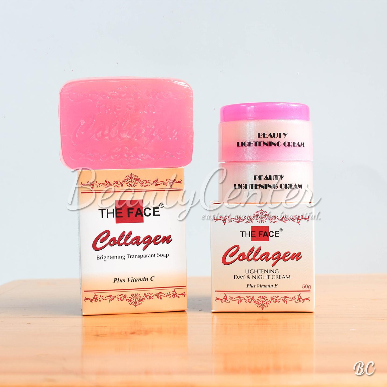 Cream Collagen Paket Siang Malam Sabun Plus Toner Vit E Dan Day And Night Gratis Sabunidr35900 Rp 37000