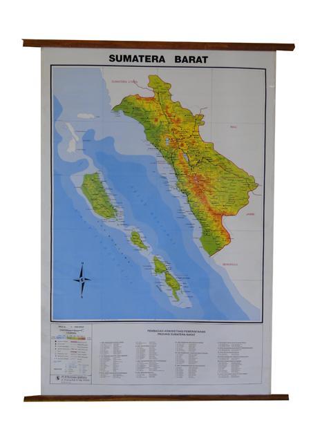 Terbaru!!! Peta Provinsi Sumatera Barat (Bingkai) - ready stock