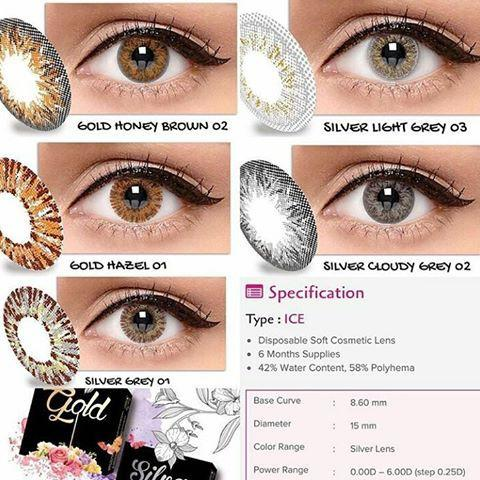 Gensaoptik Softlens Ice Gold 02 Honey Brown -0.25 s/d -3.00 / Softlense / Soflen MPS BBS 225