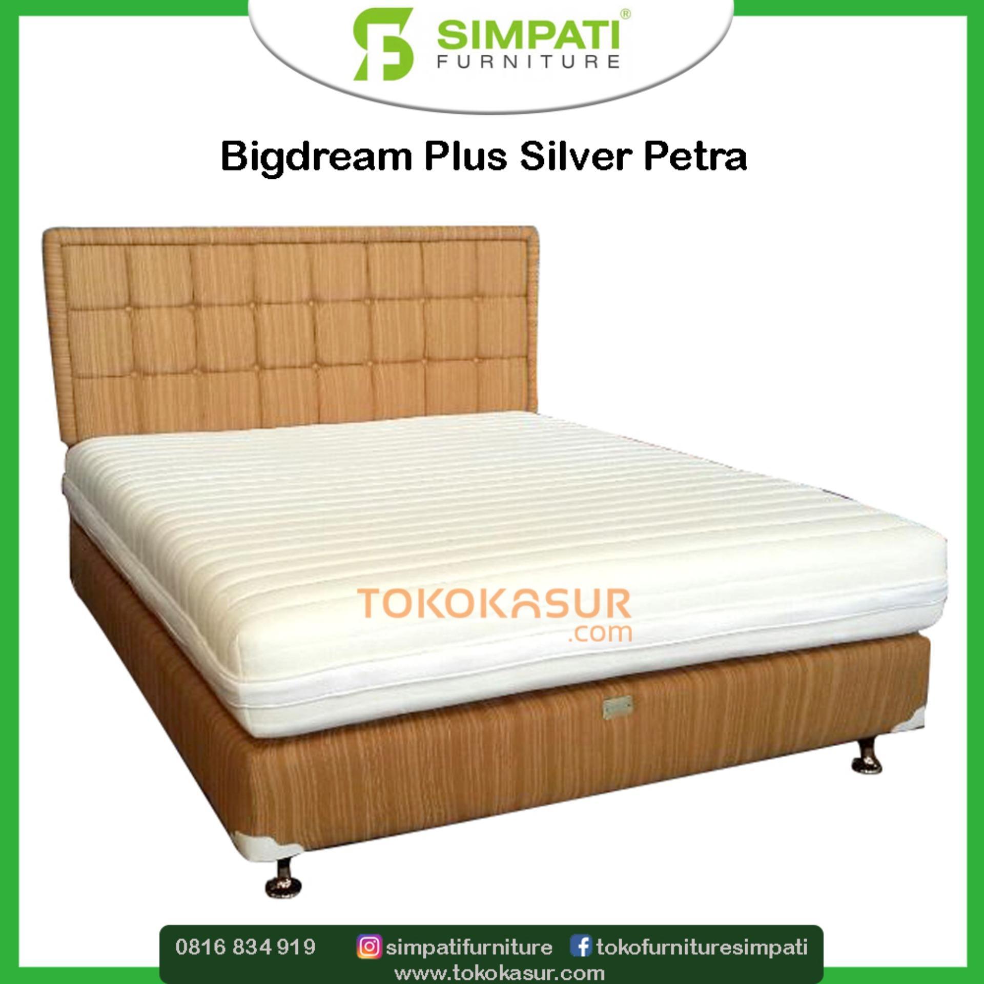 Bigdream Single Pillowtop 160x200 Kasur Tanpa Divan Sandaran Victory Sky Wash Dipan Headboard Untuk Dan Springbed Plus Silver Petra 100x200 Italiano