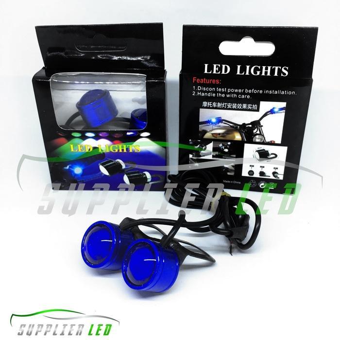 Lampu LED Mini Eagle Eyes Mata Elang Strobo Strobe Kedip Spion Motor