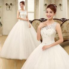 Gaun resepsi gaun pengantin pengantin wanita ukuran besar Gaun pengantin 2018 model baru gaun panjang sampai