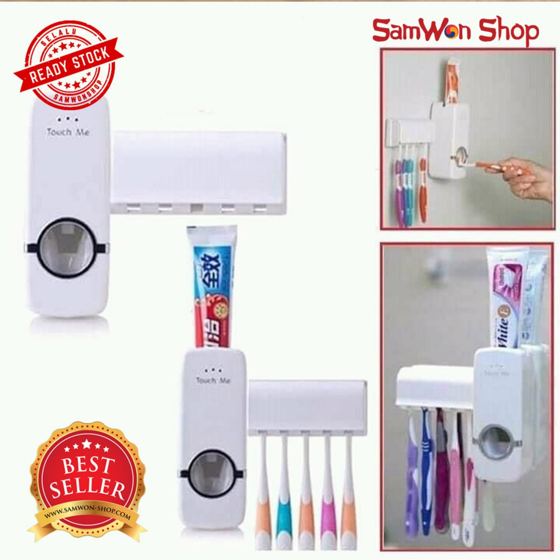 Neo Dispenser Odol Toothpaste Dispenser & Brush Set Dispenser Odol Pasta Gigi Dan Tempat Sikat Gigi
